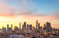 Downtown Los Angeles skyline at sunny day - PhotoDune Item for Sale