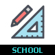 School & Education Color Icon - GraphicRiver Item for Sale
