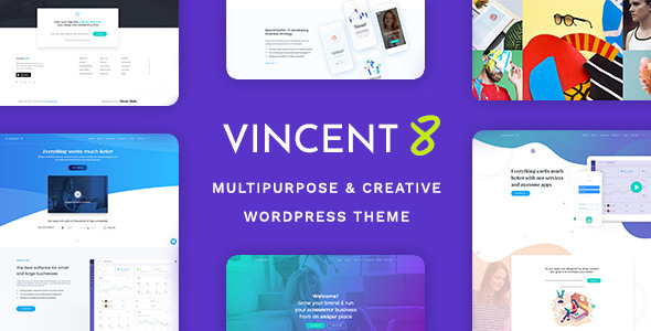 Vincent Eight | Responsive Multipurpose WordPress Theme