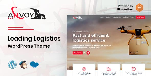 Anvoy -  Logistics WordPress Theme