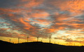 Wind Farm cropped against an orange cloudscape - PhotoDune Item for Sale