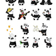 Vector Set of Cartoon Pandas - GraphicRiver Item for Sale
