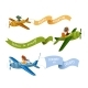 Airplanes with Ribbon - GraphicRiver Item for Sale