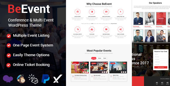 BeEvent - Conference & Multi Event WordPress Theme