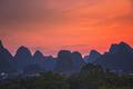 Yangshuo landscape panorama at dusk - PhotoDune Item for Sale