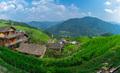 Panorama of cascading Longji Rice Terraces - PhotoDune Item for Sale