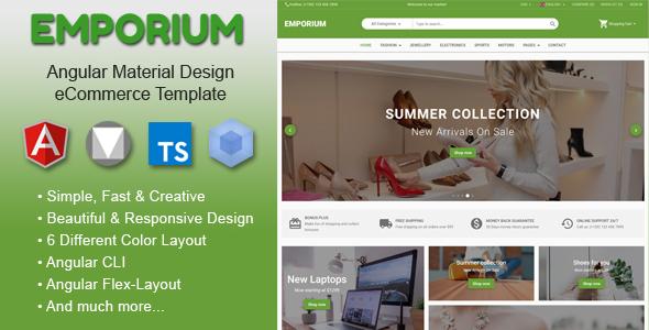 Emporium - Angular 9 Material Design eCommerce Template