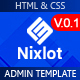 Nixlot –  HTML5 Bootstrap Admin Template - ThemeForest Item for Sale