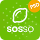 Sosso - Agriculture & Organic Food PSD Template - ThemeForest Item for Sale