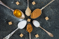 Different Kinds of Sugar in the Spoons - PhotoDune Item for Sale