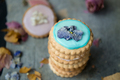 Homemade Biscuits covered with Pastel Color Icing - PhotoDune Item for Sale