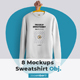 8 Mockups Isolated Mens Sweatshirt - GraphicRiver Item for Sale