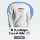 8 Mockups Mens 3D Sweatshirt - GraphicRiver Item for Sale