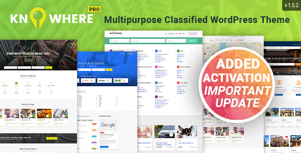 Knowhere Pro - Multipurpose Classified Directory WordPress Theme