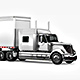 Long Trailer Truck Mock-Up - GraphicRiver Item for Sale