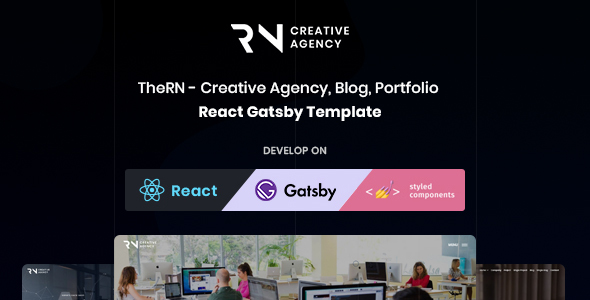 React Gatsby Creative Agency, React Gatsby Portfolio and React Gatsby Blog Template - TheRN