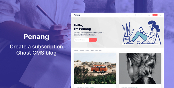 Penang - Membership and Subscription Ghost 3.0 Theme