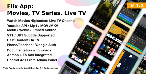 Codecanyon | Flix App Movies - TV Series - Live TV Channels - TV Cast Free Download #1 free download Codecanyon | Flix App Movies - TV Series - Live TV Channels - TV Cast Free Download #1 nulled Codecanyon | Flix App Movies - TV Series - Live TV Channels - TV Cast Free Download #1