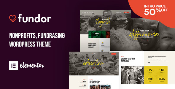 Fundor – Charity & Nonprofit WordPress Theme Preview