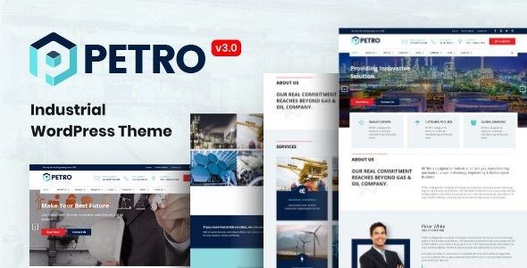 Petro - Industrial Company WordPress Theme