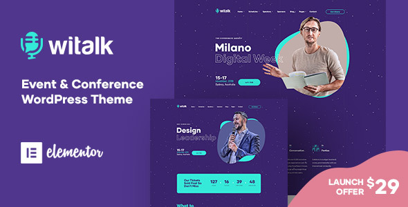 WiTalk - Event & Conference WordPress Theme