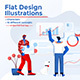 Modern Flat Design People and Business Concept - GraphicRiver Item for Sale