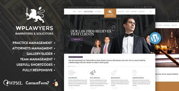 Lawyers  | Attorneys WordPress Theme
