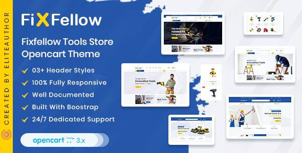Fixfellow - Tools Store OpenCart Theme