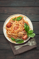 Spaghetti pasta with sausages above - PhotoDune Item for Sale