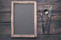 Menu blackboard with stylized cutlery - PhotoDune Item for Sale