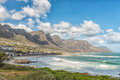 View of the coastline in Camps Bay in Cape Town - PhotoDune Item for Sale