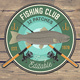 Fishing Club Patches - GraphicRiver Item for Sale