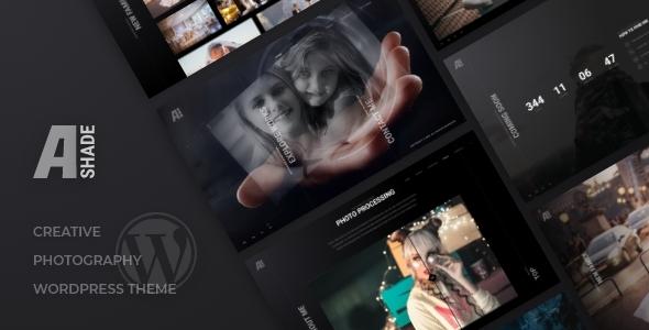 Ashade | Photography WordPress Theme Preview