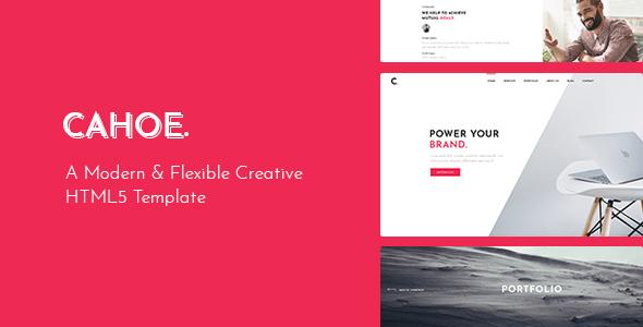 Cahoe - Creative Portfolio HTML Template