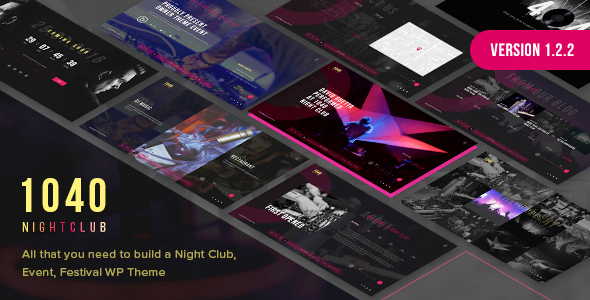 1040 Night Club - DJ, Music Festival WordPress Theme