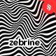 Zebrine - Black and White Striped Waves Vector Background Set - GraphicRiver Item for Sale