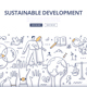 Sustainable Development Doodle Concept - GraphicRiver Item for Sale