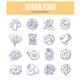 Vegan Food Doodle Icons - GraphicRiver Item for Sale