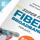 Internet Broadband Trifold & Bifold Brochure Templates - GraphicRiver Item for Sale