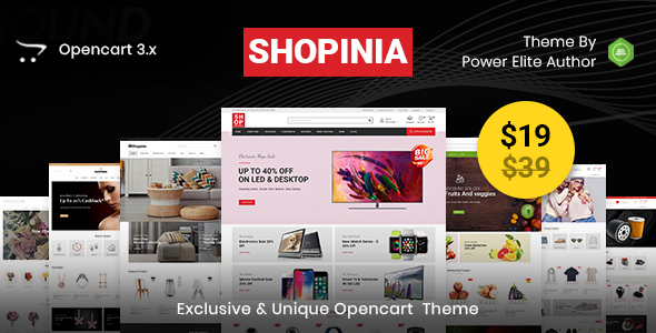 Shopinia - Multipurpose OpenCart 3 Theme