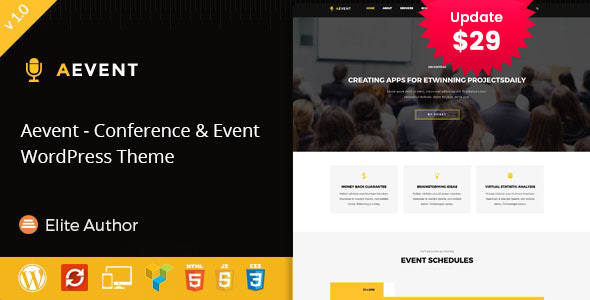 Aevent - Conference & Event WordPress Theme