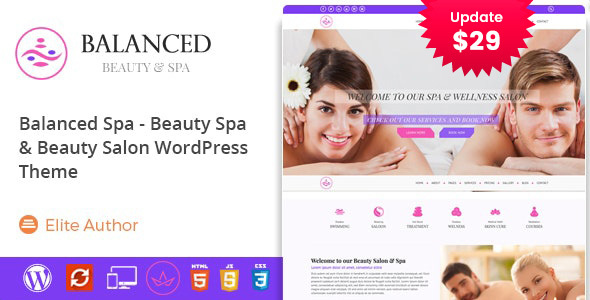 Balanced Spa - Salon, Spa WordPress Theme