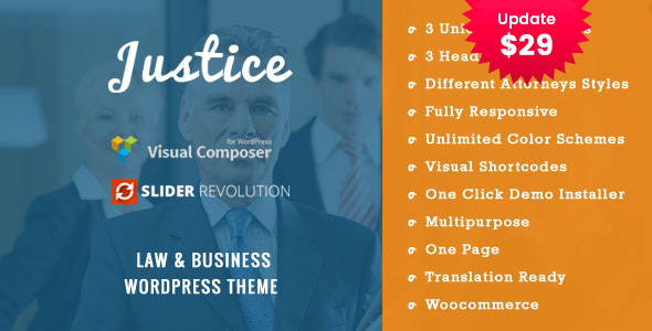 JUSTICE - Law & Business WordPress Theme