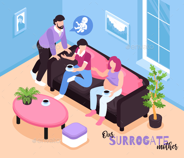 Surrogate Mother Isometric Composition