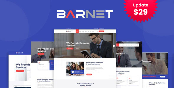 Barnet- Business Consulting WordPress Theme