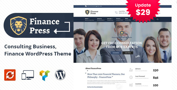 Finance Press - Consulting Business WordPress Theme