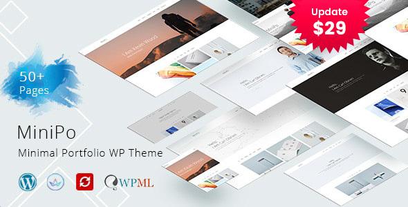 MiniPo - Multipurpose Minimal Portfolio WordPress Theme
