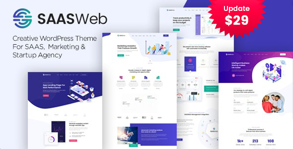 Saasweb - WordPress Theme For App & Saas Products