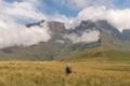 Hikers on the Contour Path above Van Heiningen Pass, Injisuthi - PhotoDune Item for Sale