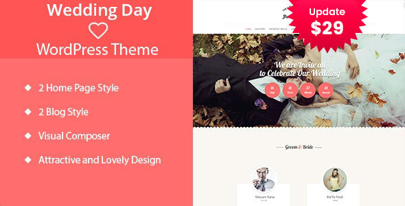 Wedding Day - WordPress Theme